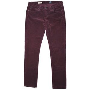AG Adriano Goldschmied Plum Slim Straight Cords